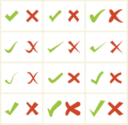 tick symbol: Check mark icons Illustration