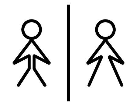 man and women wc sign: Toilete sign - wc sign