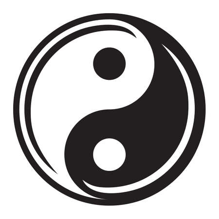 yin yang: Ying yang symbol of harmony and balance