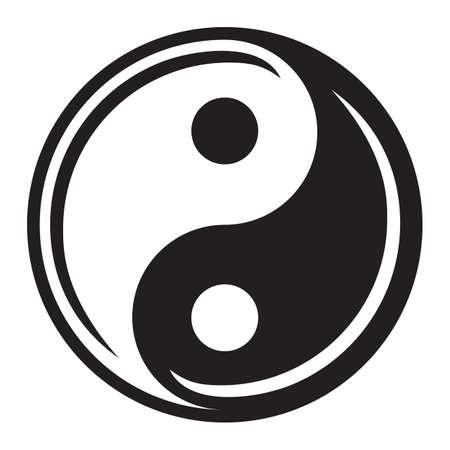 Ying yang symbole de l'harmonie et l'équilibre