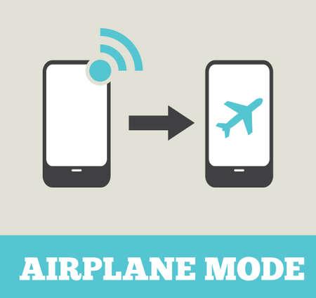 flight mode: Airplane mode - flight mode