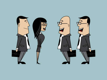 asian business meeting: Business talk Illustration