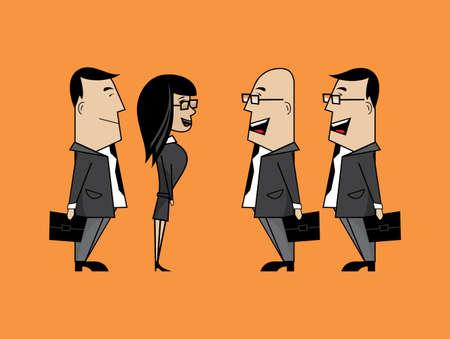 business meeting asian: Parler affaires Illustration