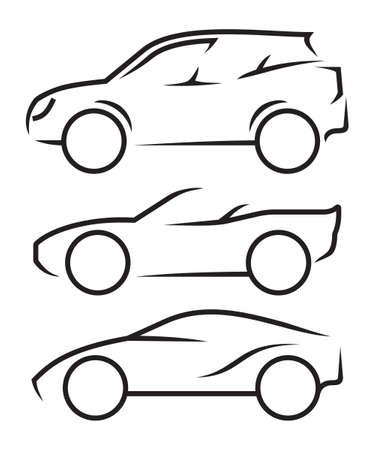 Car line art Stock Illustratie