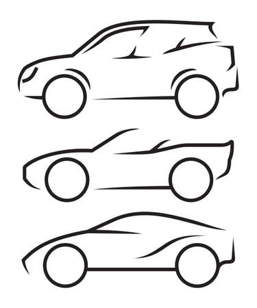 Car line art Vettoriali