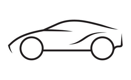 Car line art  イラスト・ベクター素材