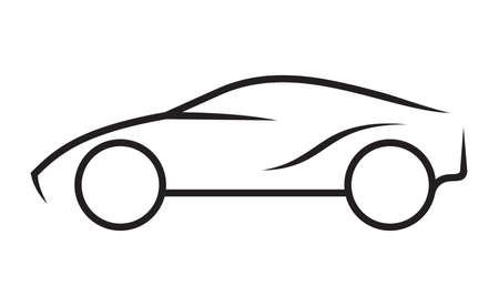 car outline: Car line art Illustration