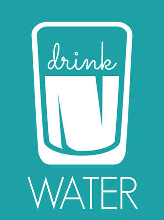 water concept: Drink water concept Illustration