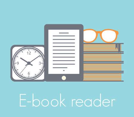 e book: E-book reader concept