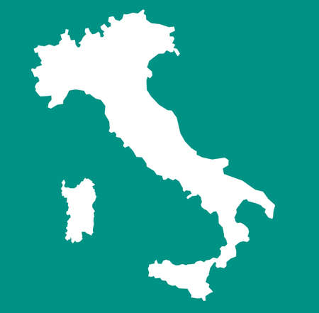 Italy map Stock Illustratie