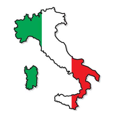 Italië kaart Stock Illustratie