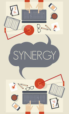 acquisitions: Synergy concept Illustration