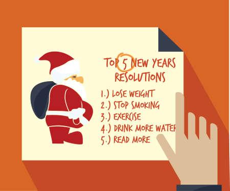new years resolution: New years resolution Illustration