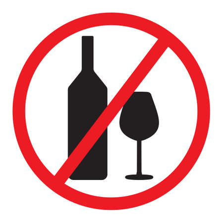 no drinking sign Vector