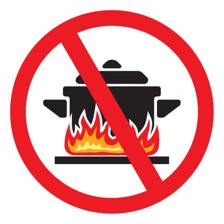 prohibido: Haciendo alimentos prohibidos Vectores
