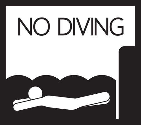 no diving sign: No diving  sign