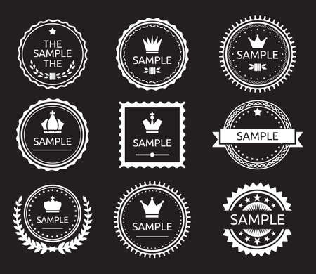 simplistic icon: Vintage label badge set