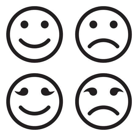 Smile icon set Illustration