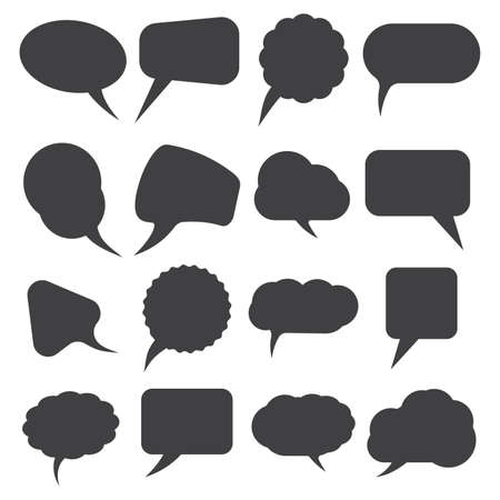cartoon words: Retro speech bubble set