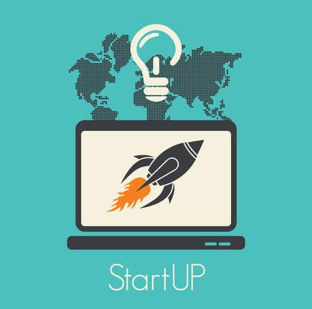 venture: Start up concept Illustration