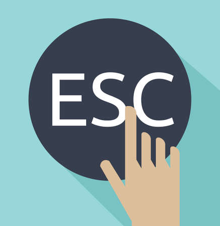 esc: hand click on escape button