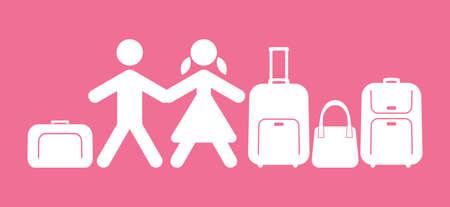 travel icon: mensen reizen pictogram Stock Illustratie
