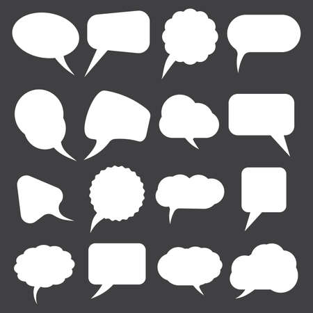 bubble speech: Retro speak bubbles