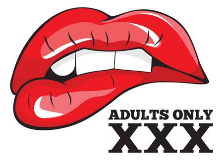 大人にのみ署名します。XXX の記号