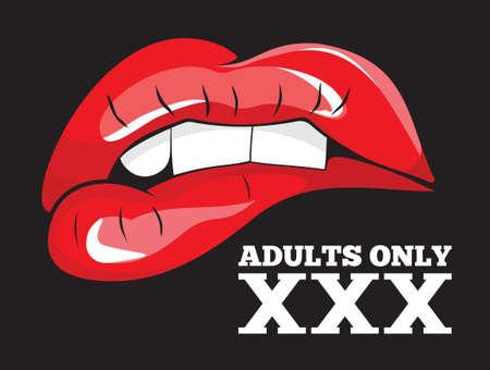 Los adultos sólo signo. XXX signo Ilustración de vector