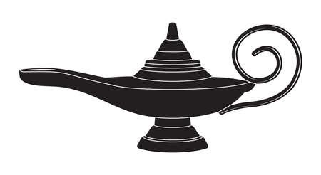 aladin: Aladdin magic lamp Illustration