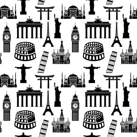 hagia sophia: World famous buildings pattern Illustration