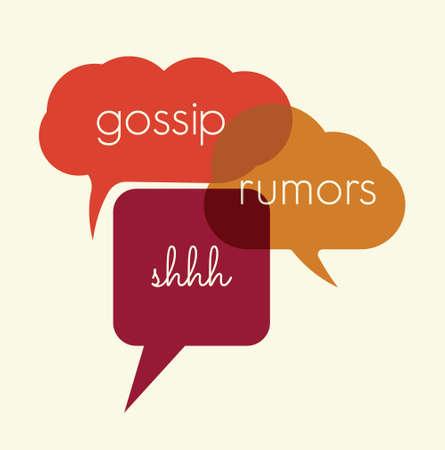Hable chismes burbujas, los rumores Foto de archivo - 36187134