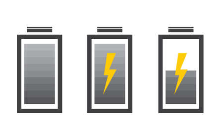 low battery: Battery icon with colorful charge level
