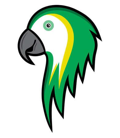 cartoon parrot: Cartoon parrot illustration