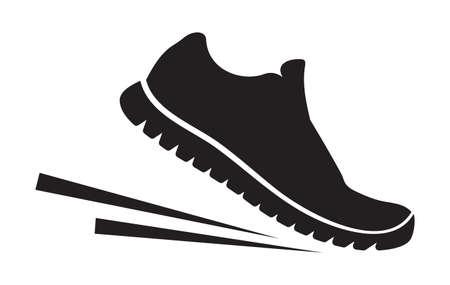 chaussure: Les chaussures de course icône Illustration