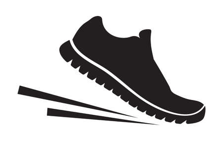 running shoes: Running shoes icon Illustration