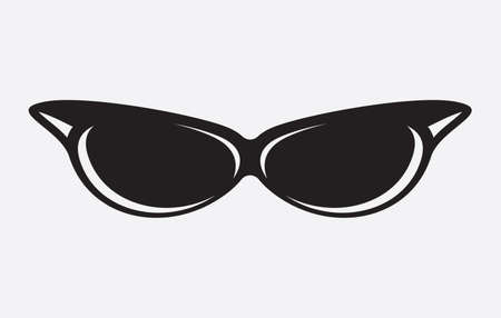 bifocals: Retro glasses icon Illustration