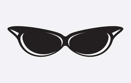 Retro glasses icon Illustration