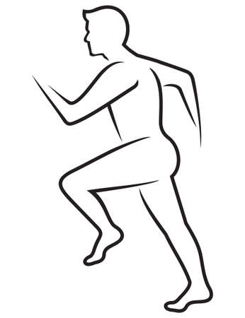 body: Running man icon Illustration