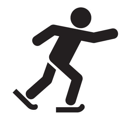 figure skating: Ice skating icon