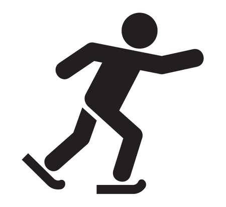 patinando: Icono de Patinaje sobre hielo