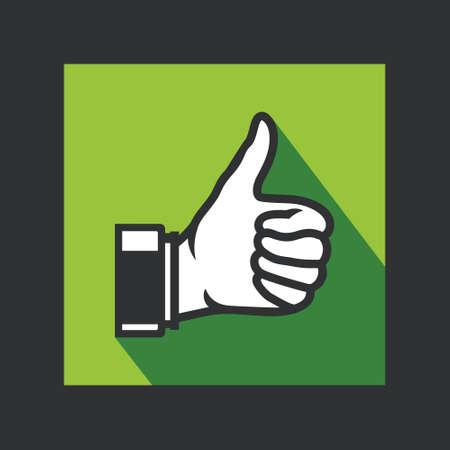 expressing positivity: ok thumbs up icon Illustration