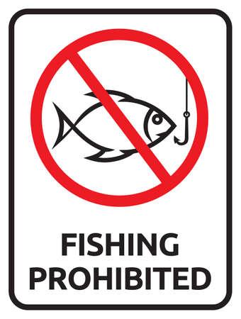 prohibido: Pesca signo prohibido