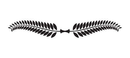 laurel branch: Laurel wreath icon Illustration