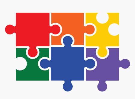 trans gender: Lgbt puzzle concept Illustration