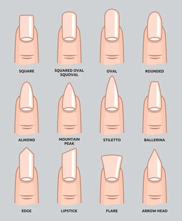 manicure: Different nail shapes - Fingernails fashion Trends