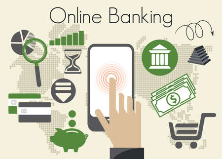 online banking: Online banking icons