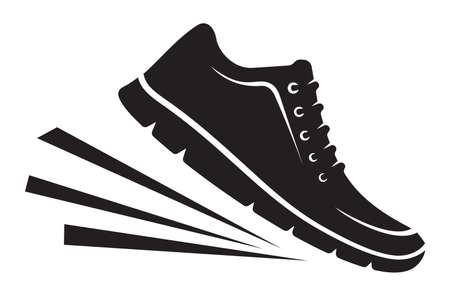 Running shoes icon Illusztráció