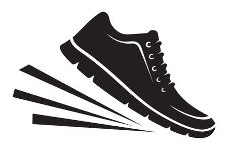 Running shoes icon Illustration