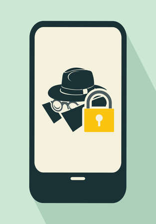 security protection: Security - protection flat icons